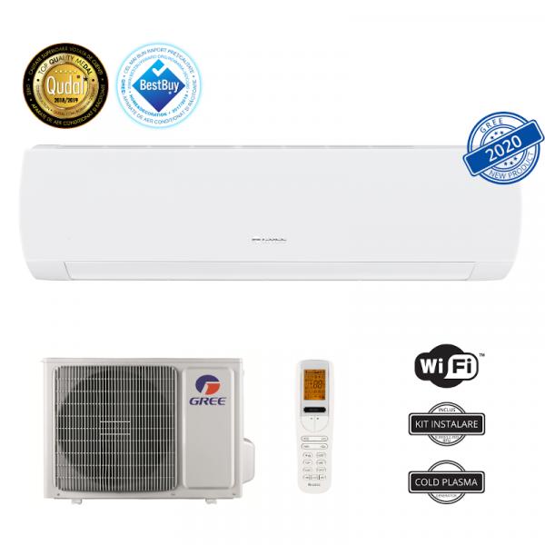 Aer conditionat Gree Muse GWH09AFB-K6DNA1A, 9000 BTU, Racire A++/ Incalzire A+, Wi-Fi Intelligent Control, R32, Filtru Catechin, Kit instalare inclus, Alb 1