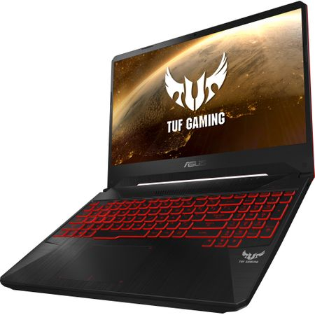 "Laptop Gaming ASUS TUF FX505GD-BQ125 cu procesor Intel® Core™ i7-8750H pana la 4.10 GHz, Coffee Lake, 15.6"", Full HD, IPS, 8GB, 1TB Hybrid FireCuda, NVIDIA GeForce GTX 1050 4GB, Free DOS, Black 10"