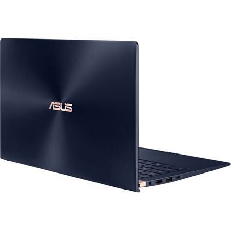 "Laptop ultraportabil ASUS ZenBook UX433FA-A5289R cu procesor Intel® Core™ i5-8265U pana la 3.9 GHz, 14"", Full HD, 8GB, 256GB SSD M.2, Intel UHD Graphics 620, Windows 10 Pro, Royal Blue Metal 15"