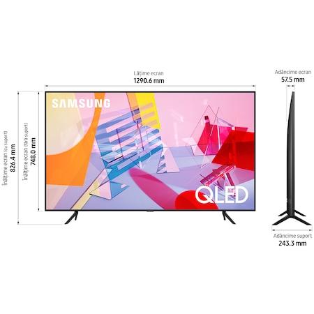 Televizor Samsung 58Q60T, 146 cm, Smart, 4K Ultra HD, QLED, Clasa A+ 6