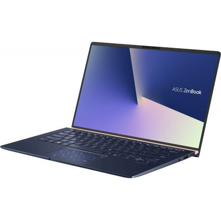 "Laptop ultraportabil ASUS ZenBook UX433FA-A5289R cu procesor Intel® Core™ i5-8265U pana la 3.9 GHz, 14"", Full HD, 8GB, 256GB SSD M.2, Intel UHD Graphics 620, Windows 10 Pro, Royal Blue Metal 18"