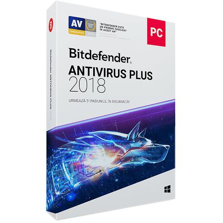 Bitdefender Antivirus Plus 2018, 1 an, 1 dispozitiv (WB11011001) 0
