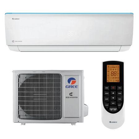 Aparat de aer conditionat, Gree Bora A4 Silver GWH18AAD-K6DNA4B 18000 BTU, Clasa A++, G10 Inverter, Buton Turbo, Auto-diagnoza, Wi-FI, Display 1