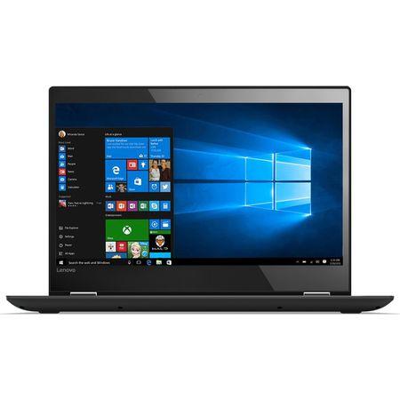 "Laptop 2 in 1 Lenovo Yoga 520-14IKB cu procesor Intel® Core™ i3-7130U 2.70 GHz, Kaby Lake, 14"", Full HD, IPS, Touch, 8GB, 1TB + 128GB SSD, Intel HD Graphics 620, Microsoft Windows 10, ONYX Black 1"