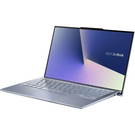 """Laptop ultraportabil ASUS UX392FA-AB002R cu procesor Intel® Core™ i7-8565U pana la 4.6 Ghz, 13.9"""", Full HD, 16GB, 512GB SSD M.2, Intel UHD Graphics 620, Windows 10 Pro, Utopia Blue 2"""