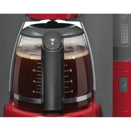 Cafetiera Bosch TKA6A044, 1.2 l, selector aroma, anti-picurare, oprire automata, program decalcifiere, Rosu 1