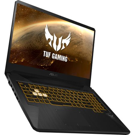 "Laptop Gaming ASUS TUF FX705GE-EW084cu procesor Intel® Core™ i7-8750H pana la 4.10 GHz, Coffee Lake, 17.3"", Full HD, 8GB, 1TB Hybrid FireCuda, NVIDIA GeForce GTX 1050 Ti 4GB, Free DOS, Gun Metal"