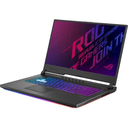 "Laptop Gaming ASUS ROG G731GT-AU004 cu procesor Intel® Core™ i7-9750H pana la 4.50 GHz, Coffee Lake, 17.3"", Full HD IPS, 8GB, 512GB SSD M.2, NVIDIA GeForce GTX 1650 4GB, Free DOS, Black 1"