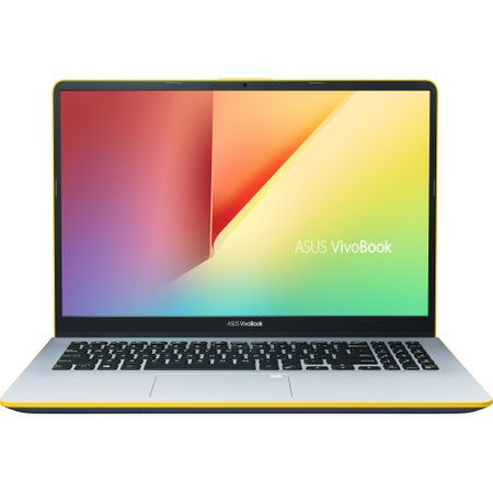 "Ultrabook ASUS VivoBook S15 S530UA-BQ056 cu procesor Intel® Core™ i5-8250U pana la 3.40 GHz, Kaby Lake R, 15.6"", Full HD, 8GB, 256GB SSD, Intel® UHD Graphics 620, Endless OS, Silver Blue with Yellow T 1"