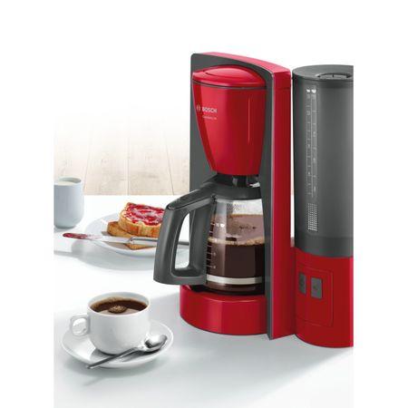 Cafetiera Bosch TKA6A044, 1.2 l, selector aroma, anti-picurare, oprire automata, program decalcifiere, Rosu 4