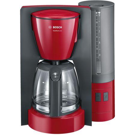 Cafetiera Bosch TKA6A044, 1.2 l, selector aroma, anti-picurare, oprire automata, program decalcifiere, Rosu 0
