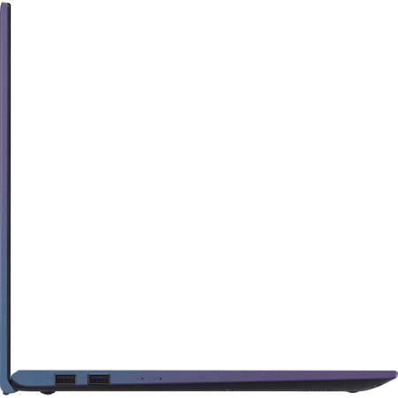 "Laptop ASUS X512FA-EJ991 cu procesor Intel® Core™ i3-8145U pana la 3.9 GHz, 15.6"", Full HD, 4GB, 256GB SSD M.2, Intel UHD Graphics 620, Free DOS, PEACOCK BLUE 4"