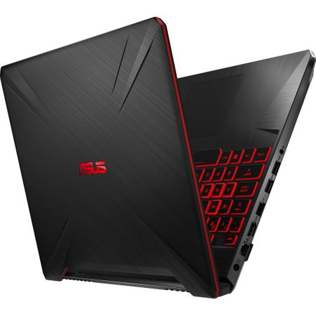"Laptop Gaming ASUS TUF FX505GD-BQ125 cu procesor Intel® Core™ i7-8750H pana la 4.10 GHz, Coffee Lake, 15.6"", Full HD, IPS, 8GB, 1TB Hybrid FireCuda, NVIDIA GeForce GTX 1050 4GB, Free DOS, Black 12"