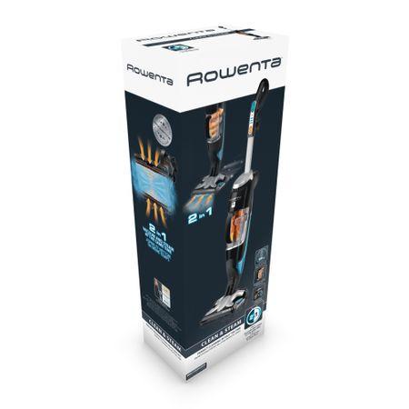 Resigilat- Aparat de curatat cu abur Rowenta Clean & Steam RY7535WH, 1700 W, 0.7 l, Incalzire 30 s, Recipient praf 0.3 l, Negru/Argintiu 3