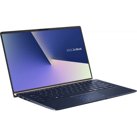 "Laptop ultraportabil ASUS ZenBook UX433FA-A5289R cu procesor Intel® Core™ i5-8265U pana la 3.9 GHz, 14"", Full HD, 8GB, 256GB SSD M.2, Intel UHD Graphics 620, Windows 10 Pro, Royal Blue Metal 4"