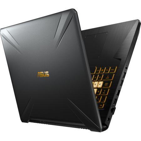 "Laptop Gaming ASUS TUF FX705GE-EW084cu procesor Intel® Core™ i7-8750H pana la 4.10 GHz, Coffee Lake, 17.3"", Full HD, 8GB, 1TB Hybrid FireCuda, NVIDIA GeForce GTX 1050 Ti 4GB, Free DOS, Gun Metal 6"