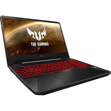 "Laptop Gaming ASUS TUF FX505GD-BQ125 cu procesor Intel® Core™ i7-8750H pana la 4.10 GHz, Coffee Lake, 15.6"", Full HD, IPS, 8GB, 1TB Hybrid FireCuda, NVIDIA GeForce GTX 1050 4GB, Free DOS, Black 1"