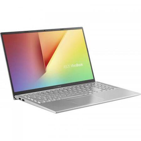 "Laptop ASUS VivoBook 15 X512FA-EJ1038, 15.6"" FHD, Intel Core i5-8265U (6M Cache, up to 3.90 GHz), Intel UHD Graphics 620, 8GB DDR4 2400Mhz (4 onboard+ 4 SODIMM), SSD 512GB M.2 NVME + slot liber SATA3, NO ODD, Silver, FARA OS 1"