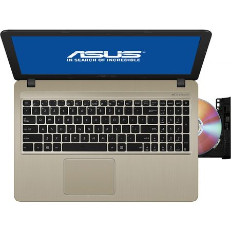 "Laptop ASUS X540MA-GO360 cu procesor Intel® Celeron® N4000 pana la 2.60 GHz, 15.6"", 4GB, 256GB SSD, DVD-RW, Intel® UHD Graphics 600, Endless OS, Chocolate Black 3"