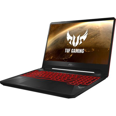 "Laptop Gaming ASUS TUF FX505GD-BQ125 cu procesor Intel® Core™ i7-8750H pana la 4.10 GHz, Coffee Lake, 15.6"", Full HD, IPS, 8GB, 1TB Hybrid FireCuda, NVIDIA GeForce GTX 1050 4GB, Free DOS, Black 14"