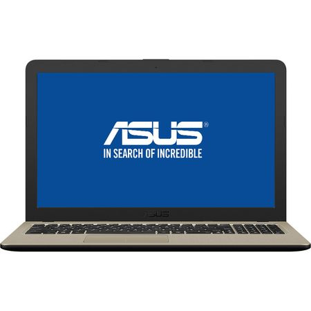 "Laptop ASUS VivoBook 15 X540MA-GO550 cu procesor Intel® Celeron® N4000 pana la 2.60 GHz, 15.6"", 4GB, 256GB SSD, Intel® UHD Graphics 600, Endless OS, Chocolate Black, No ODD 0"