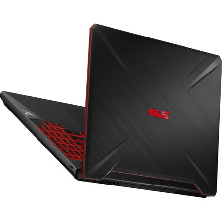 "Laptop Gaming ASUS TUF FX505GD-BQ125 cu procesor Intel® Core™ i7-8750H pana la 4.10 GHz, Coffee Lake, 15.6"", Full HD, IPS, 8GB, 1TB Hybrid FireCuda, NVIDIA GeForce GTX 1050 4GB, Free DOS, Black 13"