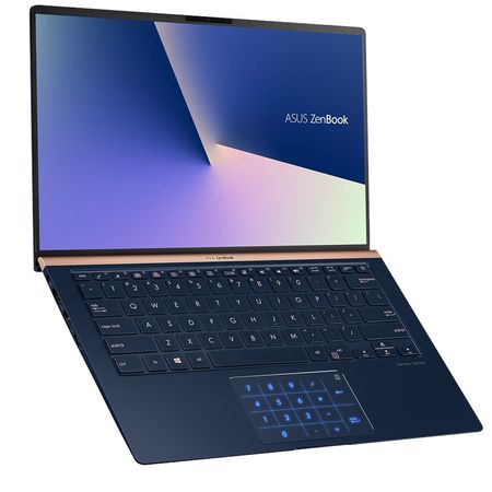 "Laptop ultraportabil ASUS ZenBook UX433FA-A5289R cu procesor Intel® Core™ i5-8265U pana la 3.9 GHz, 14"", Full HD, 8GB, 256GB SSD M.2, Intel UHD Graphics 620, Windows 10 Pro, Royal Blue Metal 2"
