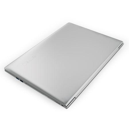 "Laptop Lenovo IdeaPad 510-15IKB cu procesor Intel® Core™ i7-7500U 2.70 GHz, Kaby Lake™, 15.6"", Full HD, IPS, 8GB, 1TB, DVD-RW, nVidia GeForce 940MX 4GB, Free DOS, Silver"