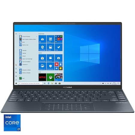 "Laptop ultraportabil ASUS ZenBook 14 UX425EA-KI393T cu procesor Intel® Core™ i7-1165G7 pana la 4.70 GHz, 14"", Full HD, 16GB, 1TB, Intel Iris Xᵉ Graphics, Windows 10 Home, Pine Grey [0]"