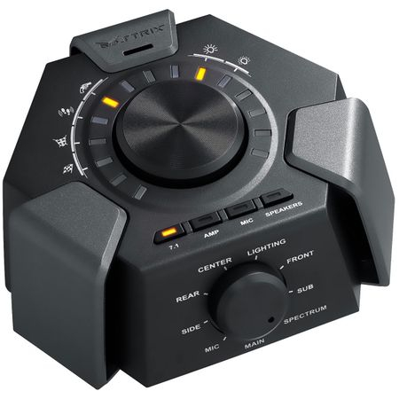 Casti gaming ASUS Strix 7.1, Microfon, Statie audio USB Plug-and-play, Negru