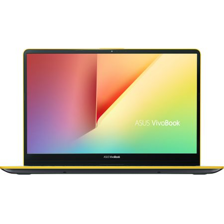 "Ultrabook ASUS VivoBook S15 S530UA-BQ056 cu procesor Intel® Core™ i5-8250U pana la 3.40 GHz, Kaby Lake R, 15.6"", Full HD, 8GB, 256GB SSD, Intel® UHD Graphics 620, Endless OS, Silver Blue with Yellow T 0"