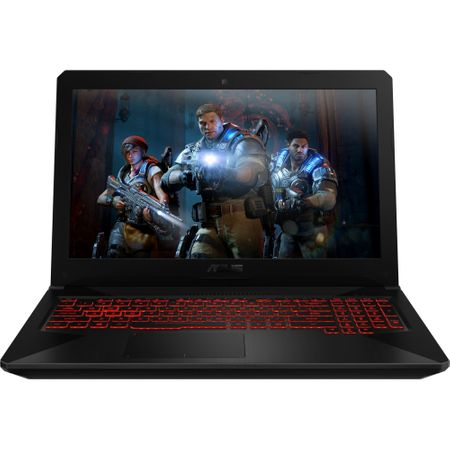 "Laptop Gaming ASUS TUF FX504GE-E4062 cu procesor Intel® Core™ i7-8750H pana la 4.10 GHz, Coffee Lake, 15.6"", Full HD, IPS, 8GB, 1TB + 128GB SSD, NVIDIA GeForce GTX 1050 Ti 4GB, Free DOS, Black 0"