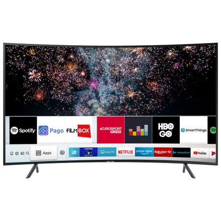 Televizor LED curbat Smart Samsung, 123 cm, 49RU7302, 4K Ultra HD 0