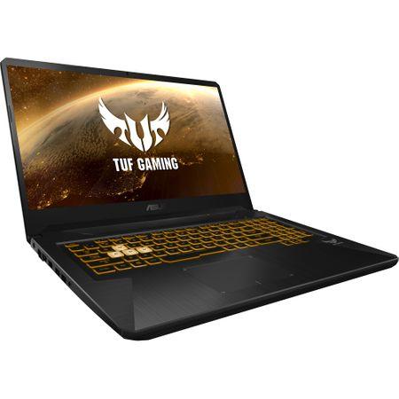 "Laptop Gaming ASUS TUF FX705GE-EW084cu procesor Intel® Core™ i7-8750H pana la 4.10 GHz, Coffee Lake, 17.3"", Full HD, 8GB, 1TB Hybrid FireCuda, NVIDIA GeForce GTX 1050 Ti 4GB, Free DOS, Gun Metal 7"