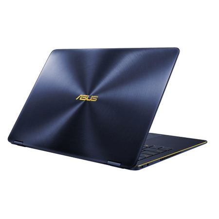 "Laptop ultraportabil ASUS ZenBook Flip UX370UA-C4195R cu procesor Intel® Core™ i7-8550U pana la 4.00 GHz, Kaby Lake R, 13.3"", Full HD, Touch, 16GB, 512GB SSD, Intel® UHD Graphics 620, Microsoft Windows 10 Pro, Blue/Sand"