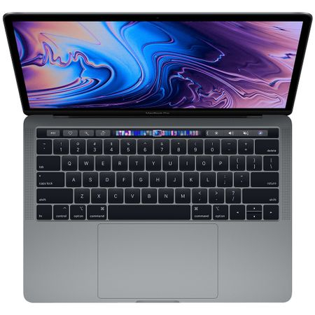 Laptop Apple MacBook Pro 13 (mv972ze/a), ecran Retina, Touch Bar, procesor Intel® Core™ i5 2.40 GHz, 8GB, 512GB SSD, Intel Iris Plus Graphics 655, macOS Mojave, INT KB, Space grey 1
