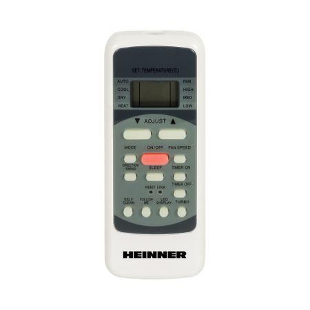 Aparat de aer conditionat Heinner HAC-12SL++ Inverter, 12000 BTU, Clasa A++, Display LCD, Auto Restart, Autodiagnoza, Gri lucios