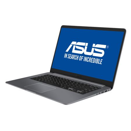 "Laptop ASUS S510UN-BQ135 cu procesor Intel® Core™ i7-8550U pana la 4.00 GHz, Kaby Lake R, 15.6"", Full HD, 8GB, 1TB + 128GB M.2 SSD, NVIDIA GeForce MX150 2GB, Endless OS, Gray"