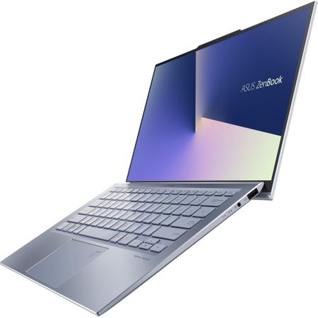 """Laptop ultraportabil ASUS UX392FA-AB002R cu procesor Intel® Core™ i7-8565U pana la 4.6 Ghz, 13.9"""", Full HD, 16GB, 512GB SSD M.2, Intel UHD Graphics 620, Windows 10 Pro, Utopia Blue 14"""