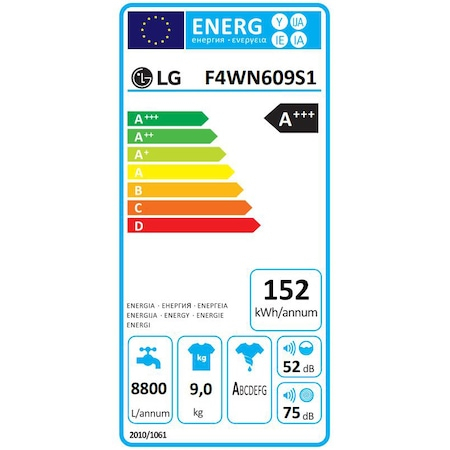 Masina de spalat rufe LG F4WN609S1, 9 kg, 1400 RPM, Clasa D, Direct Drive, Turbo Wash, Steam, Smart Diagnoisis, WiFi, Alb [16]