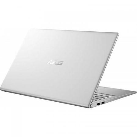 "Laptop ASUS VivoBook 15 X512FA-EJ1038, 15.6"" FHD, Intel Core i5-8265U (6M Cache, up to 3.90 GHz), Intel UHD Graphics 620, 8GB DDR4 2400Mhz (4 onboard+ 4 SODIMM), SSD 512GB M.2 NVME + slot liber SATA3, NO ODD, Silver, FARA OS 5"