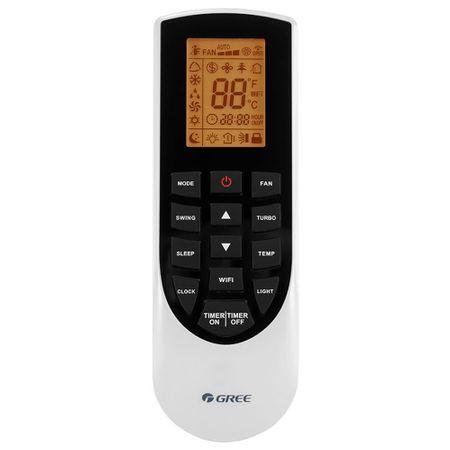 Aparat de aer conditionat, Gree Bora A4 Silver GWH18AAD-K6DNA4B 18000 BTU, Clasa A++, G10 Inverter, Buton Turbo, Auto-diagnoza, Wi-FI, Display 4