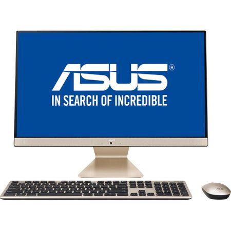 "Sistem Desktop All-in-One ASUS V241ICUK-BA041D cu procesor Intel® Core™ i5-8250U pana la 3.40 GHz, Kaby Lake R, 23.8"", Full HD, 8GB, 256GB SSD, Intel HD Graphics, Endless OS, Mouse + Tastatura, Black/Gold"