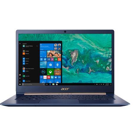 "Laptop ultraportabil Acer Swift SF514-52T-54KJ cu procesor Intel® Core™ i5-8250U pana la 3.40 GHz, Kaby Lake R, 14"", Full HD, IPS, 8GB, 256GB SSD, Intel® UHD Graphics 620, Microsoft Windows 10, Charcoal Blue (NX.GTMEX.003) 0"