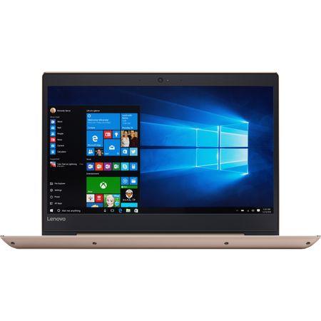 "Laptop ultraportabil Lenovo IdeaPad 520S-14IKB cu procesor Intel® Core™ i3-7100U 2.30 GHz, Kaby Lake, 14"", 4GB, 1TB, Intel HD Graphics, Microsoft Windows 10, Golden 0"
