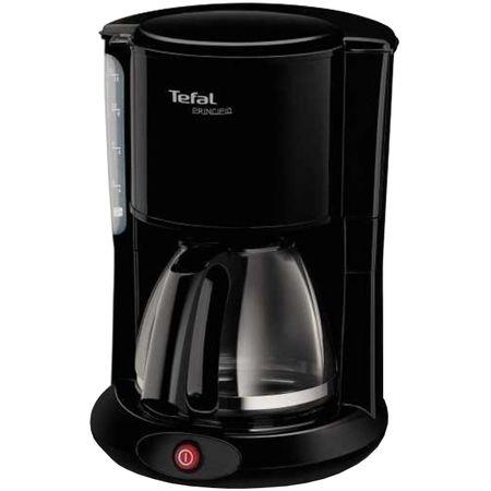 Cafetiera Tefal CM260812 Principio, Capacitate 1.25L, Indicator apa, Vas din sticla, Negru 0