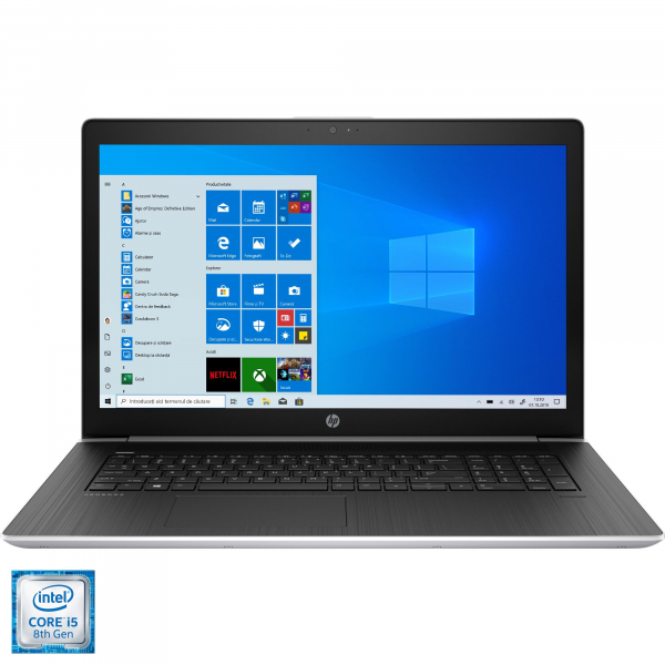 "Laptop HP ProBook 470 G5 cu procesor Intel® Core™ i5-8250U pana la 3.40 GHz, Kaby Lake R, 17.3"", Full HD, 8GB, 1TB, NVIDIA GeForce 930MX 2GB, FPR, Microsoft Windows 10 Pro, Silver, 2RR89EA 0"