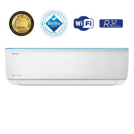 Aparat de aer conditionat, Gree Bora A4 Silver GWH18AAD-K6DNA4B 18000 BTU, Clasa A++, G10 Inverter, Buton Turbo, Auto-diagnoza, Wi-FI, Display 3
