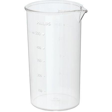 Mixer vertical Philips HR1604/00, 550 W, 1 viteza, 0.5 l, Alb 2
