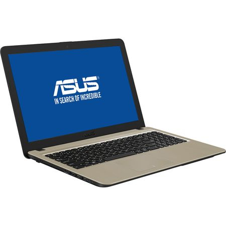 "Laptop ASUS VivoBook 15 X540MA-GO550 cu procesor Intel® Celeron® N4000 pana la 2.60 GHz, 15.6"", 4GB, 256GB SSD, Intel® UHD Graphics 600, Endless OS, Chocolate Black, No ODD 5"